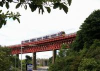 Looking southwest as a Fife Circle train crosses Jamestown Viaduct in June 2006.<br><br>[John Furnevel&nbsp;20/06/2006]