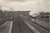 C.R. 4.4.0 54470 drawing out of up island platform with Black Isle empties. Muir of Ord Junction.<br><br>[G H Robin collection by courtesy of the Mitchell Library, Glasgow&nbsp;01/07/1950]
