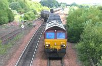 66021 takes a train of empties out of Halbeath sidings and heads south for the Forth Bridge in June 2006.<br><br>[John Furnevel&nbsp;/06/2006]