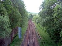 Looking west at Crianlarich Lower Junction. WHR line to left and Callander route to right. Both lines once approached this point as double tracks.<br><br>[Ewan Crawford&nbsp;01/07/2006]