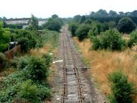 Looking south to the site of Hereford Barton station.<br><br>[Ewan Crawford&nbsp;06/07/2006]