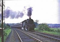 80109 climbs past Overlee Park to Clarkston distant signal.<br><br>[John Robin 07/06/1965]