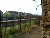 Clitheroe viewed from the disused platform and old station building.<br><br>[Ewan Crawford&nbsp;03/07/2006]
