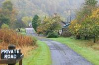 Looking north along the trackbed of the Peebles Railway on 7 October 2005 towards the former Thornielee station. [See image 35315]<br><br>[John Furnevel&nbsp;07/10/2005]