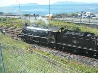 62005 at Mallaig with backdrop of Eigg and Rum.<br><br>[John Robin&nbsp;14/08/2005]