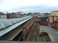 Shrewsbury looking to Crewe Junction and box - the junction between the lines to Birmingham and Crewe.<br><br>[Ewan Crawford&nbsp;10/07/2006]