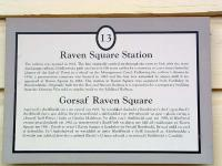 Welshpool Raven Square. The history of the station in two languages.<br><br>[Ewan Crawford&nbsp;10/07/2006]