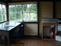 Interior of Castle Caereinion signalbox.<br><br>[Ewan Crawford 10/07/2006]